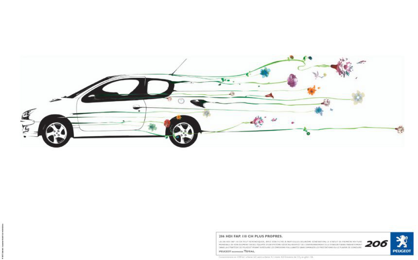 Publicité greenwashing peugeot