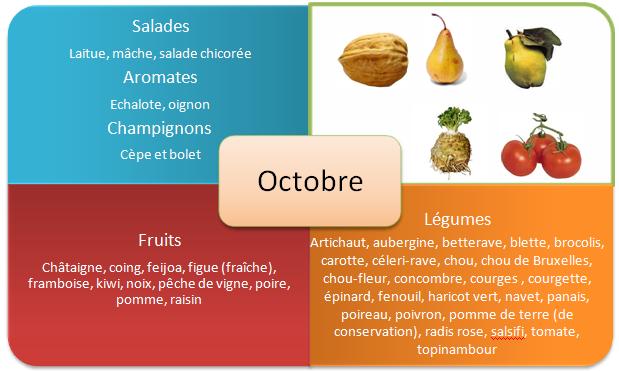 Fruits et legumes d'automne - Octobre