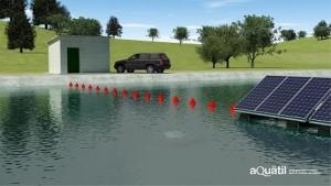 Installation photovoltaïque sur l'eau