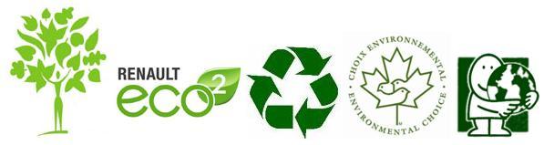 Exemples de logo verts non reglementés