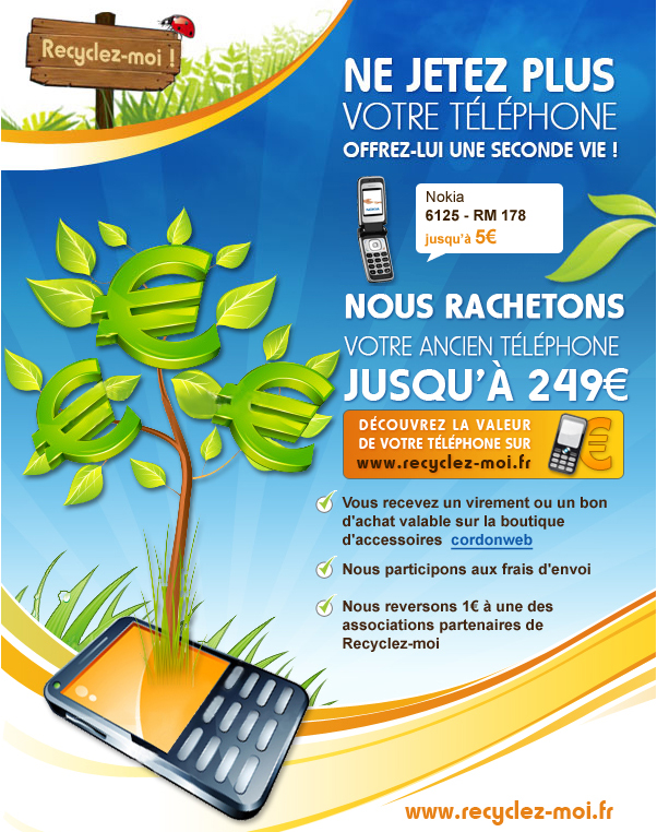 recyclage telephone portable