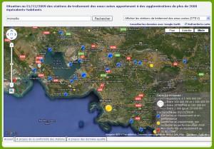 pollution en mer et stations de retraitement des eaux usées