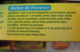 de l'huile de palme dans les herbes de provence !