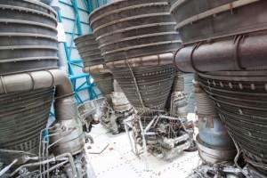 Moteur de navette spatiale dont les propulseurs fonctionnent à l'hydrogène