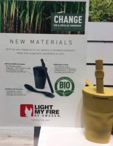 la marque se tourne vers les bio plastiques pour réduire son impact sur le climat
